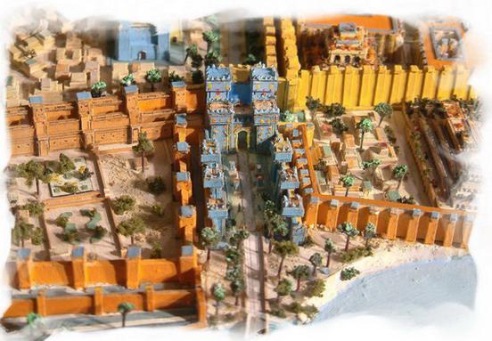 Ingresso nella citta' di Babilonia, porta Ishtar