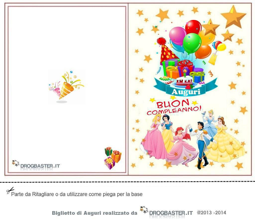 Conosciuto Biglietto Auguri Compleanno da stampare gratis XR63