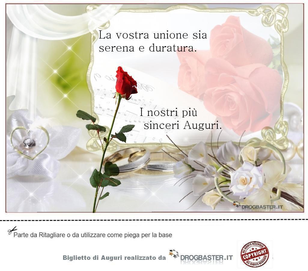 Auguri Matrimonio Del Figlio : Biglietto matrimonio da stampare gratis