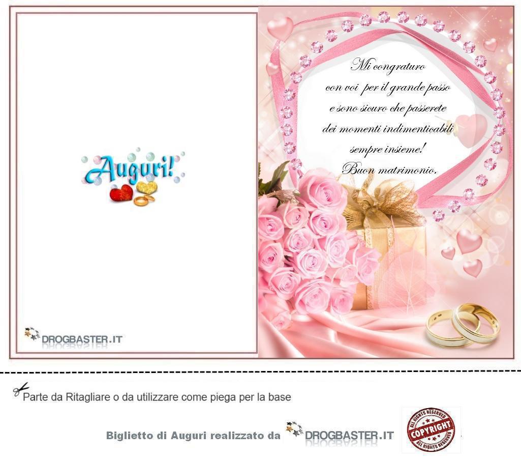 Auguri Matrimonio Zii : Biglietto matrimonio da stampare gratis