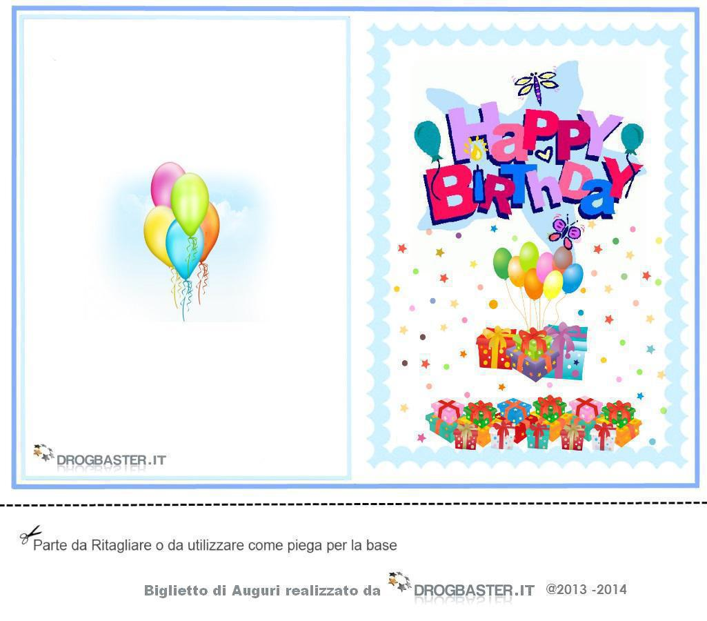 Favoloso Cartoline e biglietti per la festa del compleanno SM48