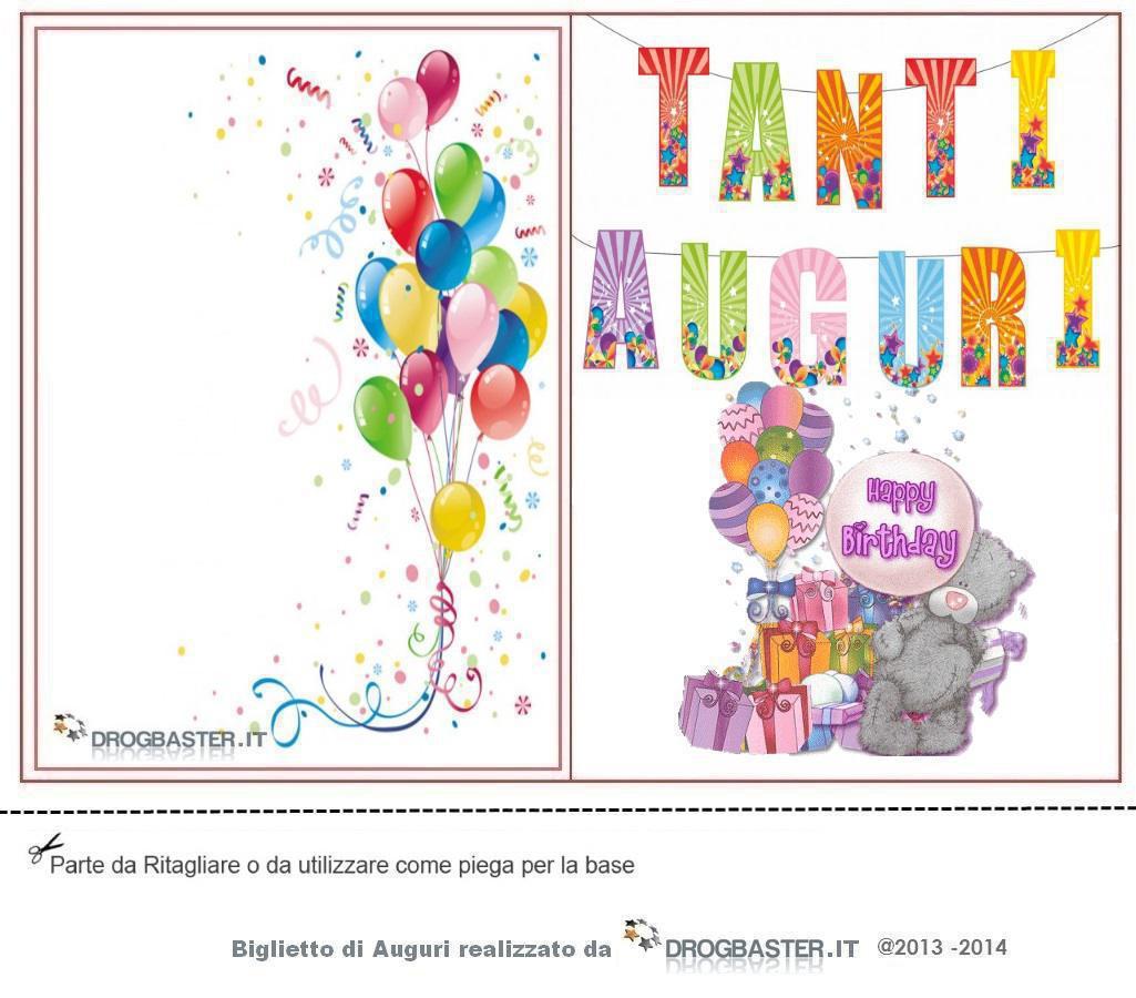 Biglietto Compleanno Da Stampare Gratis