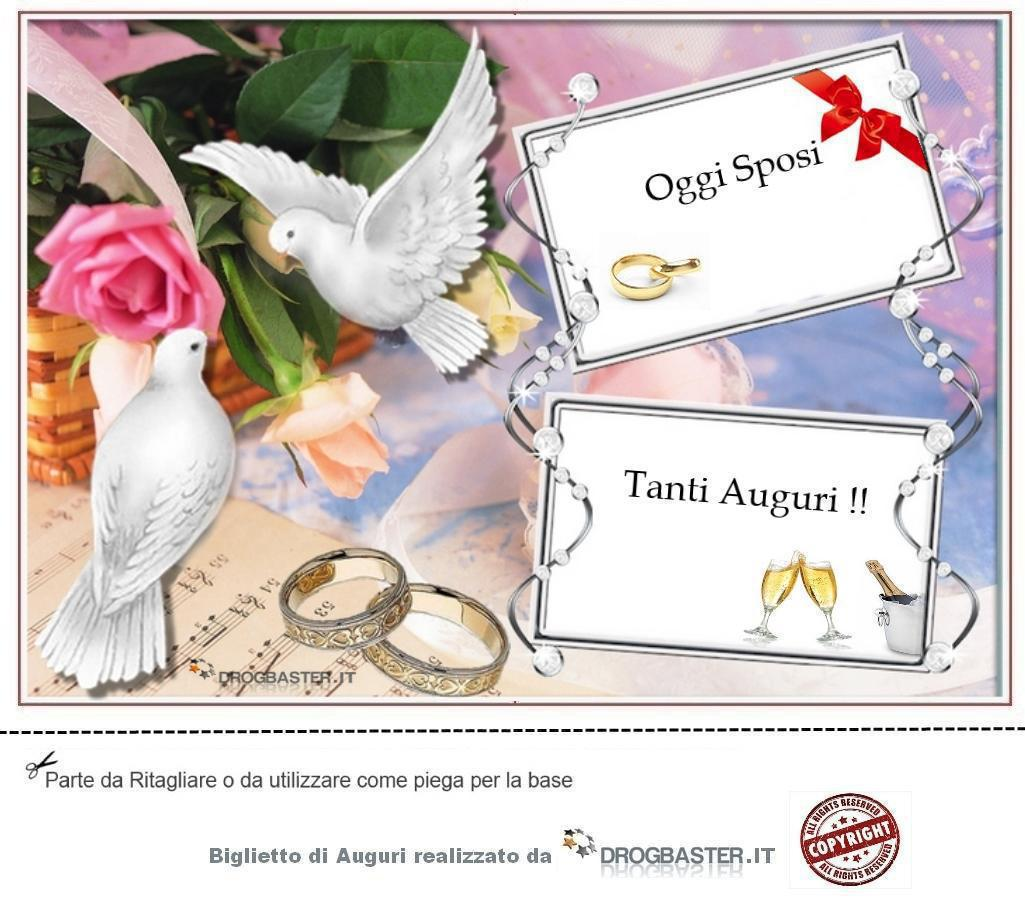 Auguri Di Matrimonio Per Nipote : Biglietto con frase auguri matrimonio