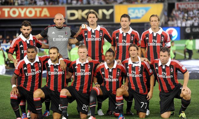 Foto di gruppo squadra Milan