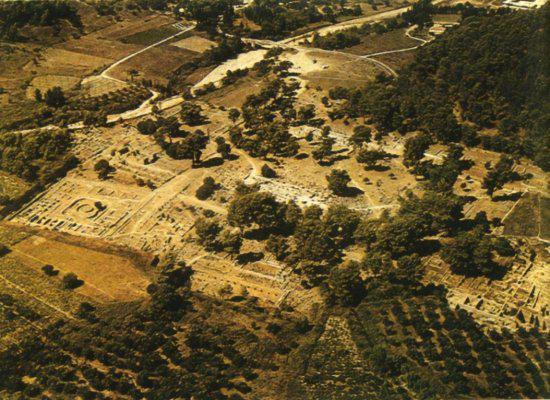 Panorama della citt� d'Olimpia