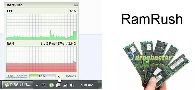 RamRush programma ottimizza la memoria