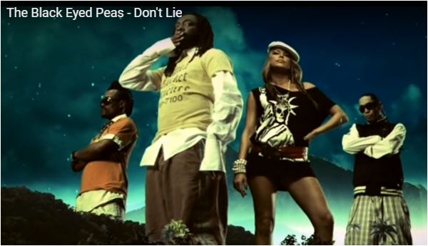 Hit musicale Don't lie dei Black Eyed Peas