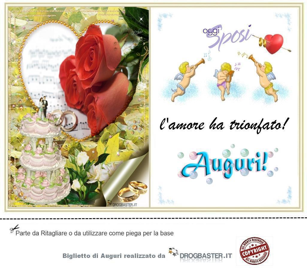 Auguri Anniversario Matrimonio Divertenti Gratis : Biglietto matrimonio da stampare gratis
