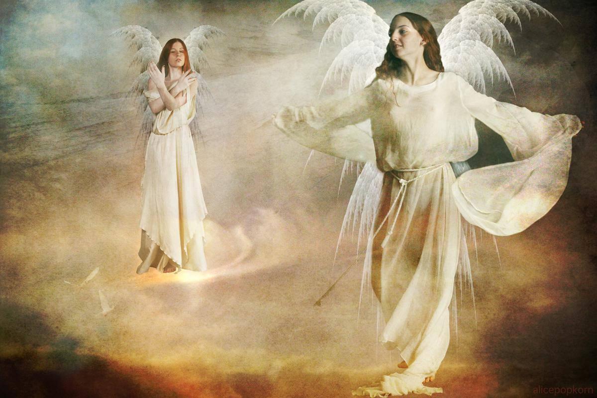 volo angeli in cielo