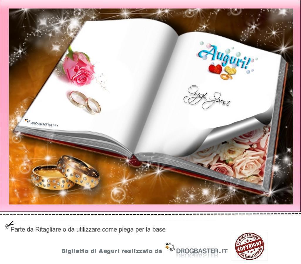 Biglietto matrimonio da stampare gratis for Immagini di auguri agli sposi