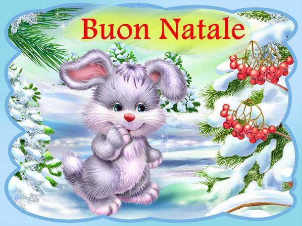 Coniglietto che augura Buon Natale