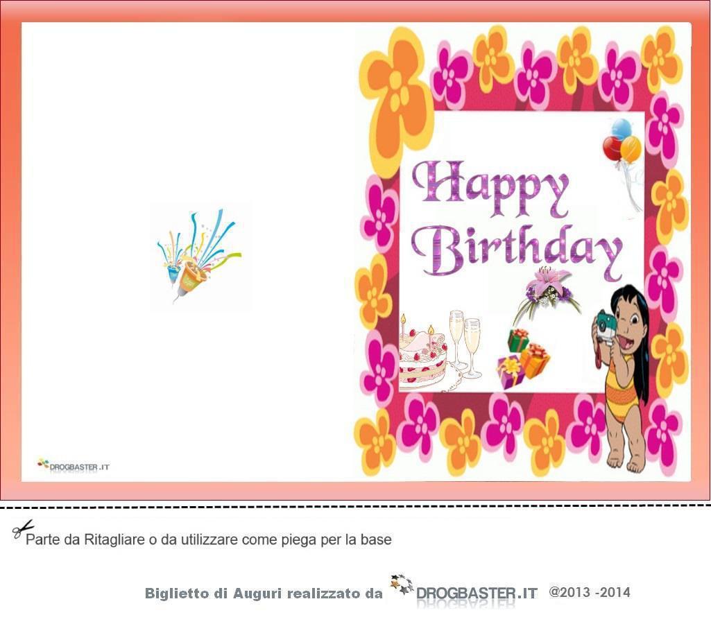 Conosciuto Biglietto Auguri Compleanno da stampare gratis FP96