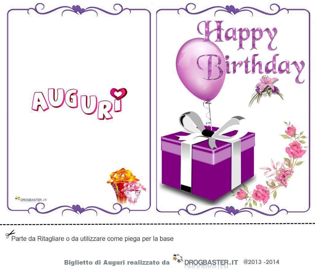 Popolare Biglietto Auguri Compleanno da stampare gratis ZY98