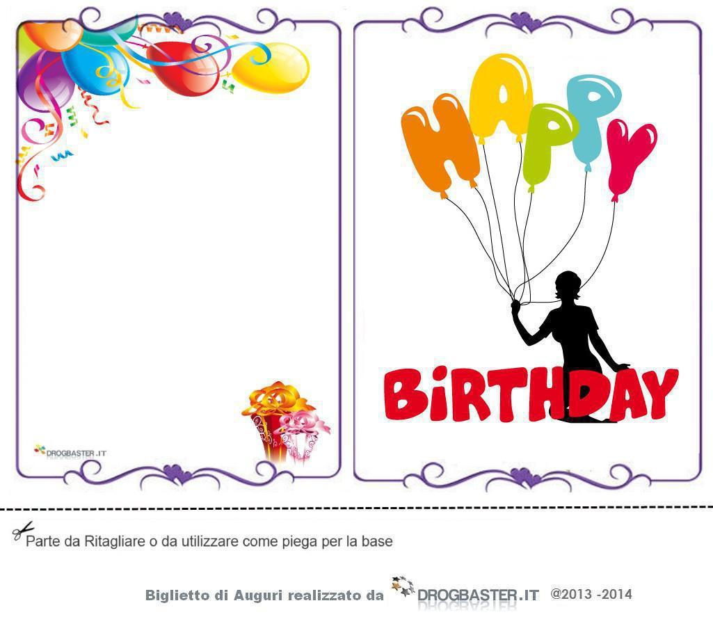 Happy birthday cartoline e biglietti per il compleanno for Cartoline per auguri