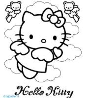 disegno cartone animato Hello Kitty