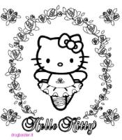 Hello Kitty stampa e colora gratis
