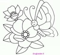 Farfalle con i fiori