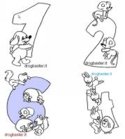 numeri da colorare - Scuola