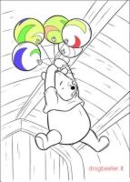 Winnie the Pooh con i palloncini
