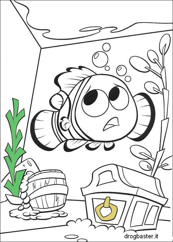 dibujos para colorear acuario