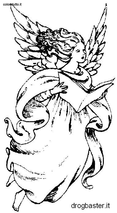 Disegni da colorare gratis per bambini for Angeli da stampare e colorare