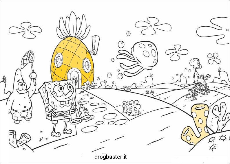 Disegni da colorare per l 39 infanzia e la didattica for Disegni spongebob