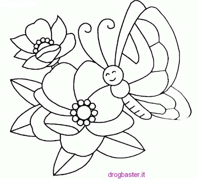 Disegni facili da colorare per bambini dell 39 asilo for Fiori grandi da colorare