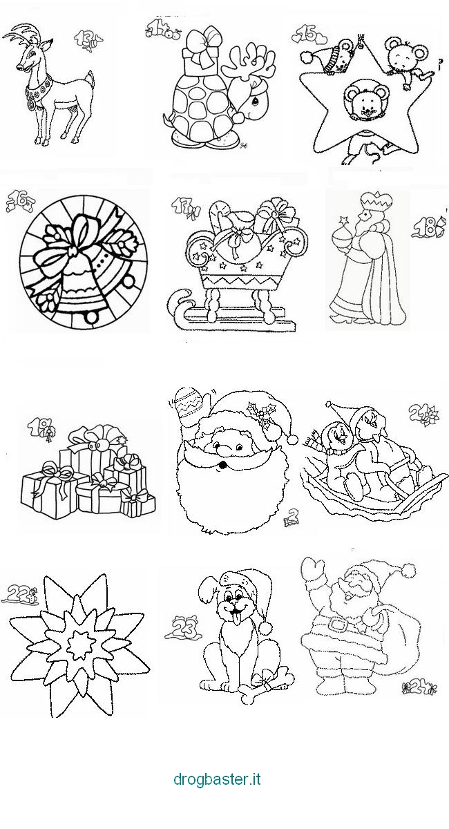 Disegni Di Natale Gratis Da Colorare Per Bambini.Disegni Di Natale Da Colorare Per Bambini Babbo Natale E Alberi