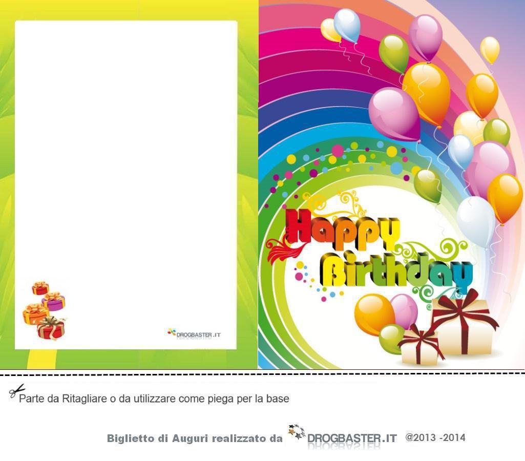 Preferenza Biglietti gratis per fare gli auguri per il Compleanno AT63