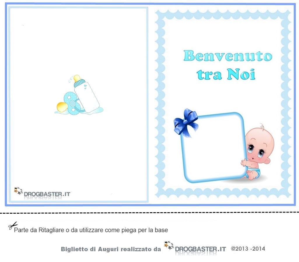 Amato Biglietti gratis auguri Nascita o Battesimo ZE75