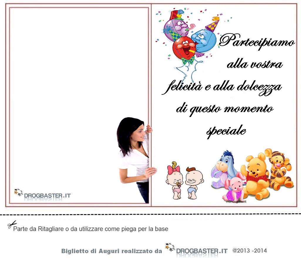 Ben noto Biglietto nascita o battesimo da stampare gratis IH44