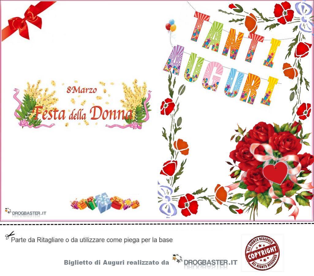 Top Auguri per la Festa della Donna (8 Marzo): Bigliettini da stampare  MH65