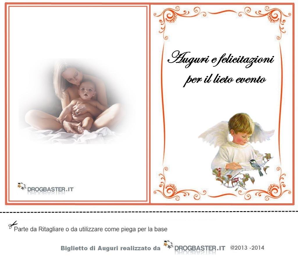 Amato Biglietto nascita o battesimo da stampare gratis MR68