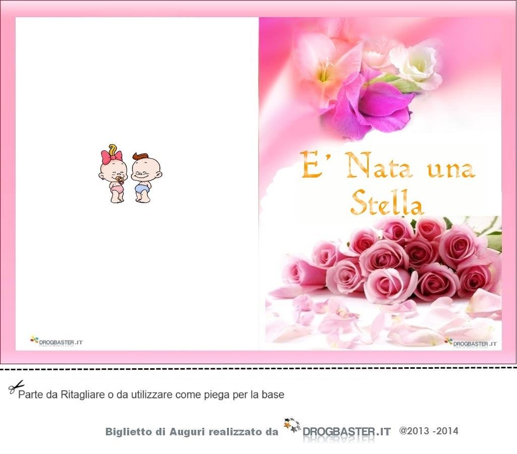 Auguri Matrimonio E Nascita : Biglietto nascita o battesimo da stampare gratis