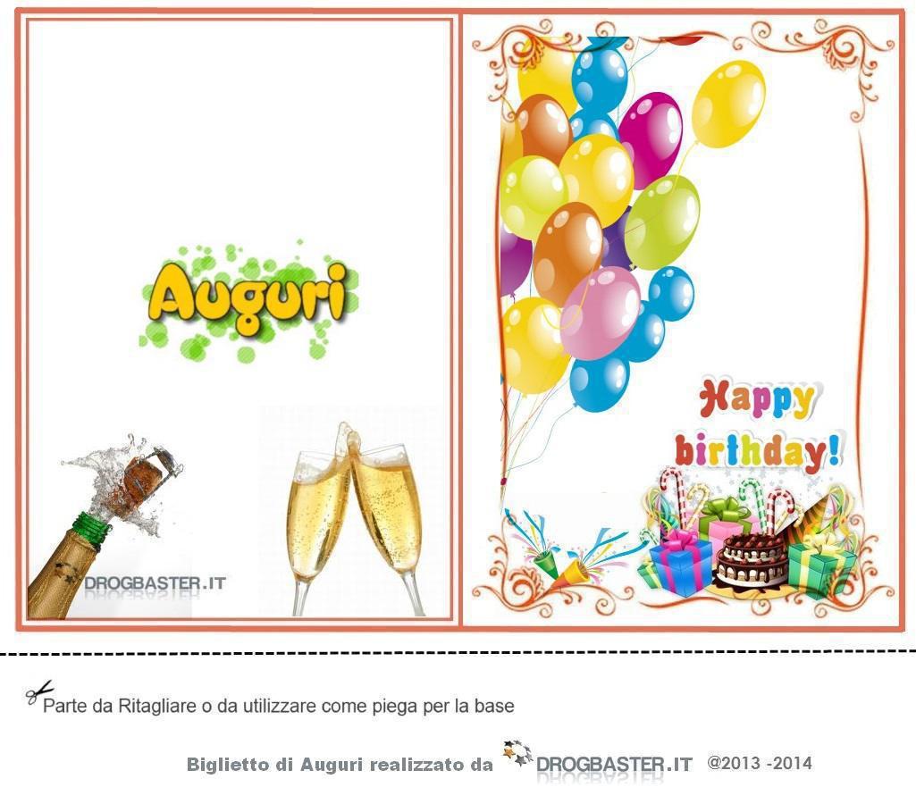 Biglietti gratis per fare gli auguri per il compleanno - Stampabili per bambini gratis ...