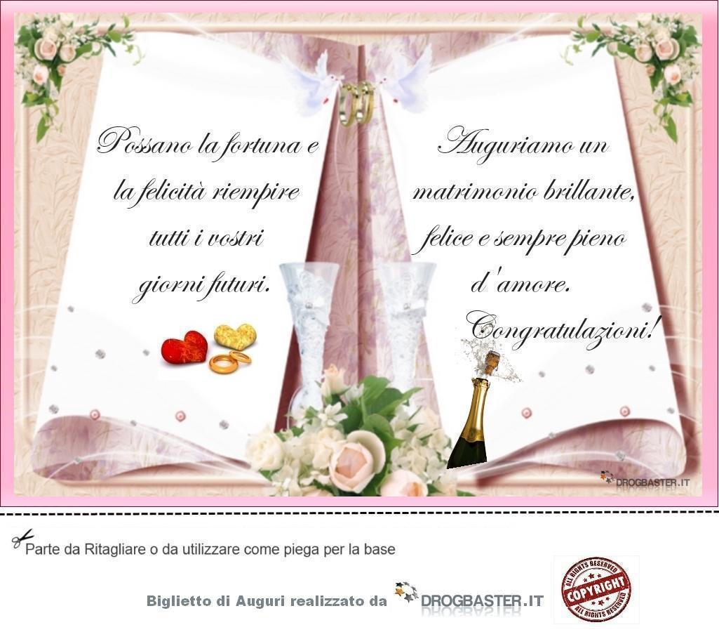 Auguri Matrimonio Dai Nonni : Biglietto con frase auguri matrimonio