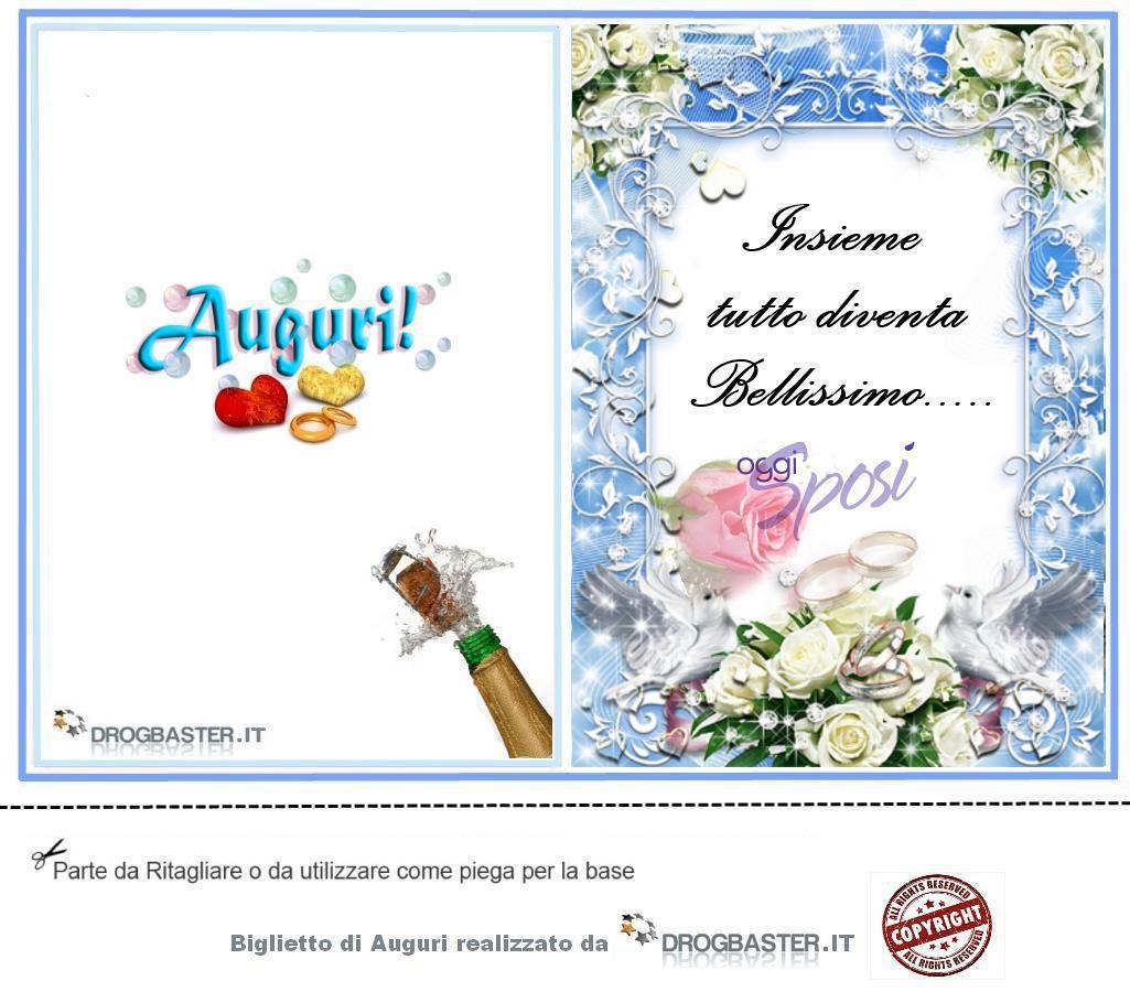 Biglietto Auguri Matrimonio : Biglietto con frase auguri matrimonio