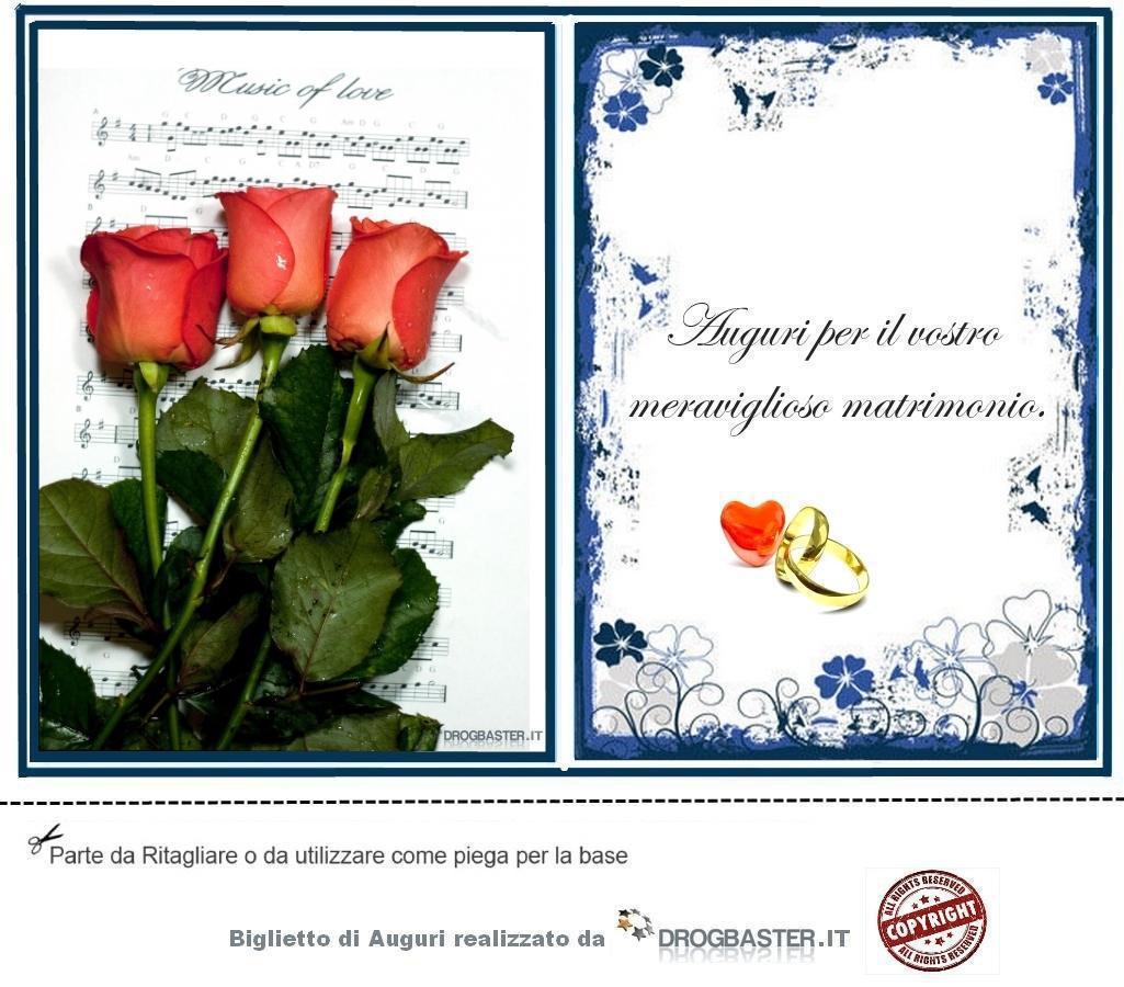 Matrimonio Auguri Biglietto : Biglietto con frase auguri matrimonio