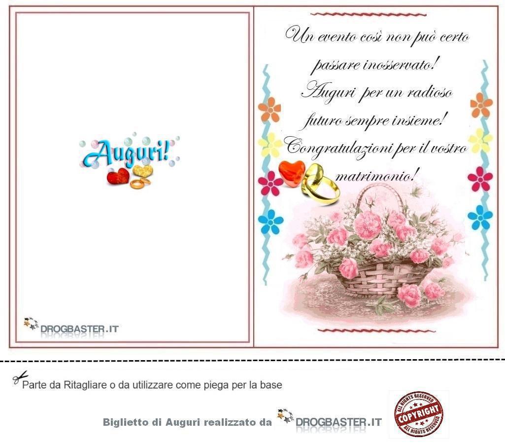 Immagini Auguri Matrimonio Civile : Biglietto con frase auguri matrimonio