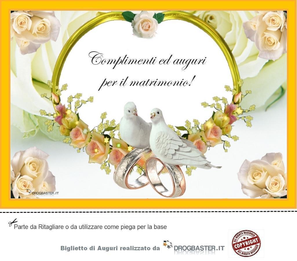 Souvent Auguri Matrimonio da stampare gratis OI31