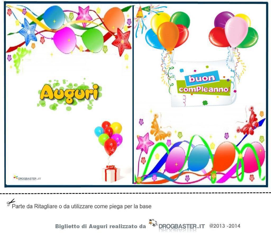 abbastanza Cartoline e biglietti per la festa del compleanno DV34