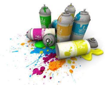 murales realizzati con bombolette spray