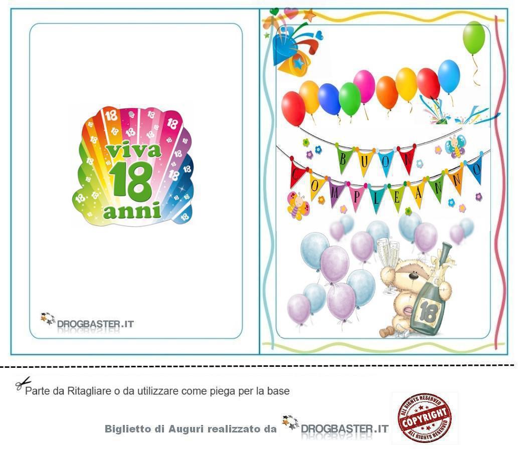 Biglietti Auguri 18 Anni Da Stampare Gratis