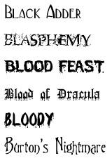caratteri font dalla A alla B