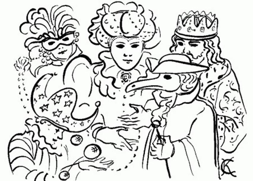 Stampa e colora i personaggi del carnevale italiano for Maschere di carnevale tradizionali da colorare per bambini da stampare