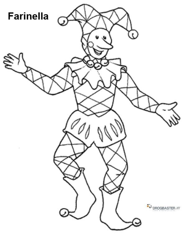 Stampa e colora i personaggi del carnevale for Maschere di carnevale tradizionali da colorare per bambini da stampare