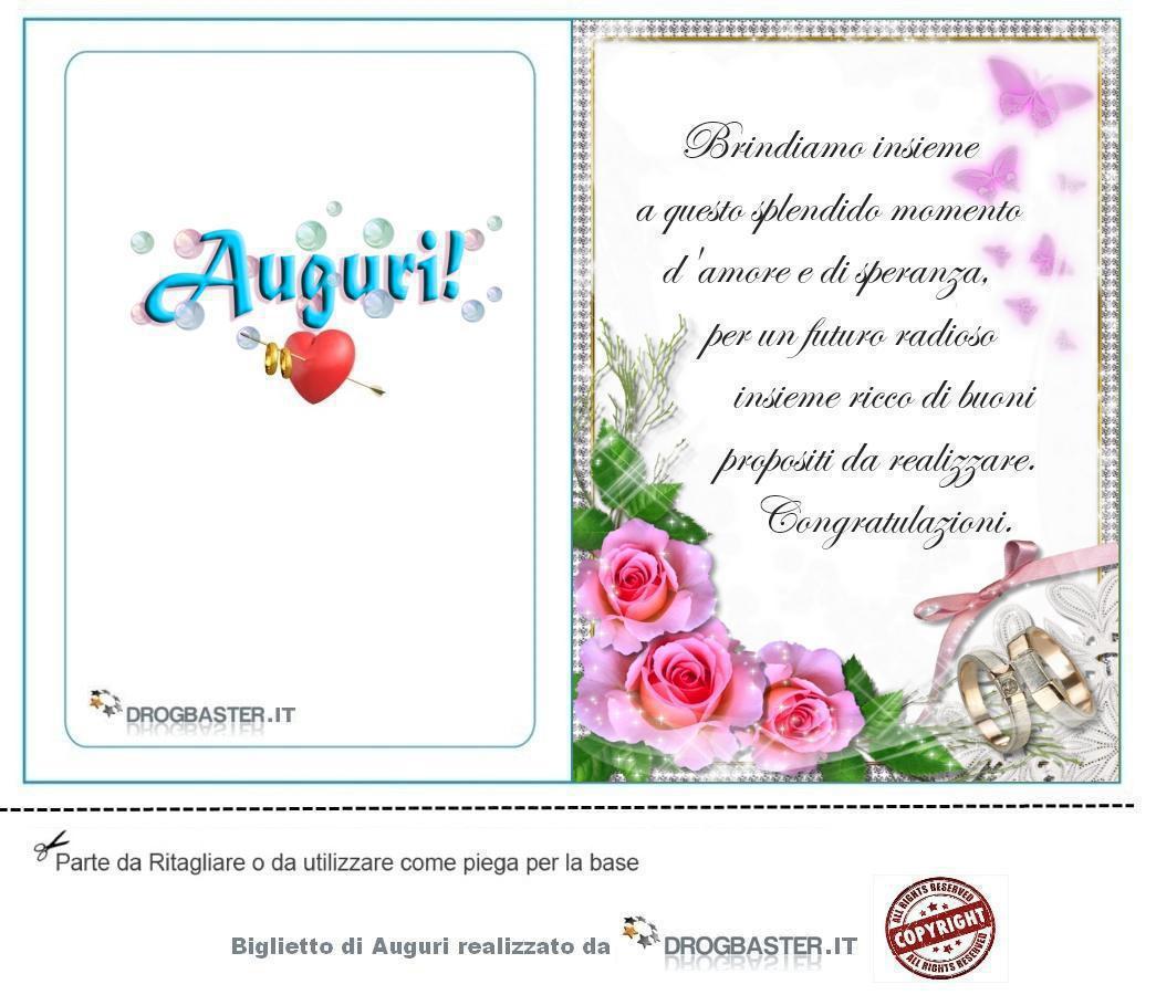 Biglietti Auguri Matrimonio Classici : Auguri matrimonio da stampare gratis