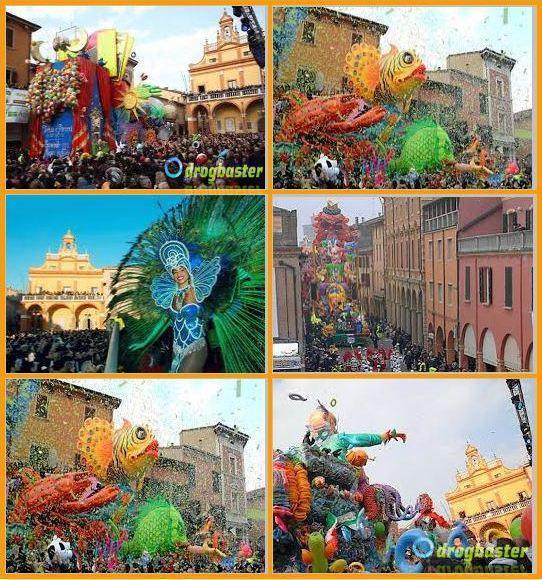 collage foto del carnevale