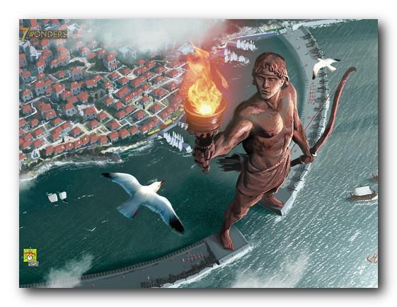 Il Colosso di Rodi era un'enorme statua del dio Elios
