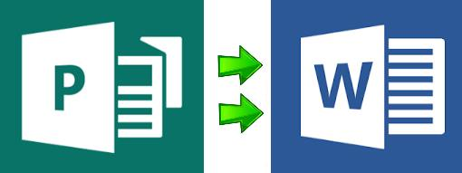 logo conversione Publisher e Word